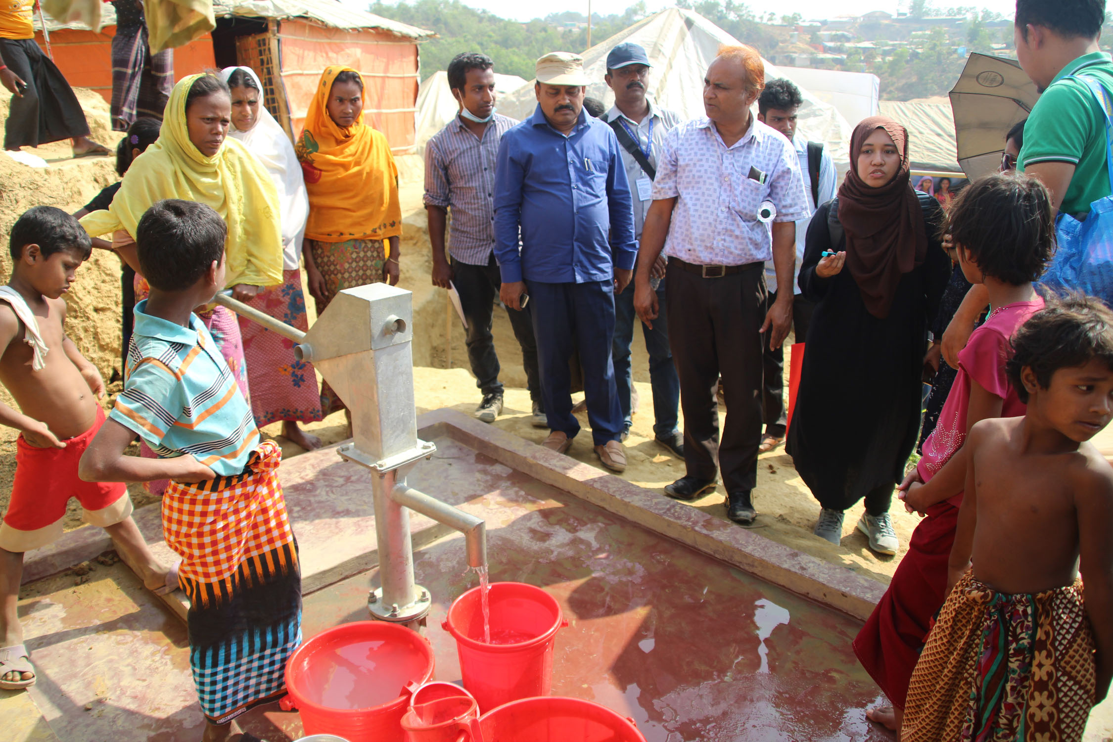 Tube Well installation at Rohingya Camp